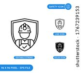 safety icons set vector...