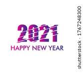 happy new year 2021 logo vector ...   Shutterstock .eps vector #1767248300