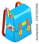 colored school backpack.... | Shutterstock .eps vector #1767251543
