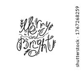 merry and bright typography... | Shutterstock .eps vector #1767268259