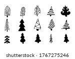 set  collection doodle...   Shutterstock .eps vector #1767275246