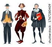 history of spain. famous people.... | Shutterstock .eps vector #1767280409