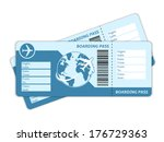 blank plane tickets for... | Shutterstock .eps vector #176729363