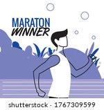 man avatar running vector...   Shutterstock .eps vector #1767309599