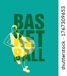 basketball letters in front of...   Shutterstock .eps vector #1767309653