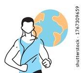 man avatar running with world...   Shutterstock .eps vector #1767309659