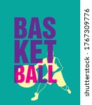 basketball letters in front of...   Shutterstock .eps vector #1767309776