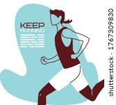 man avatar keep running vector...   Shutterstock .eps vector #1767309830