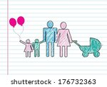 people family icon pictogram... | Shutterstock .eps vector #176732363