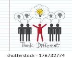 people icons think different... | Shutterstock .eps vector #176732774