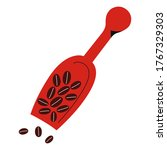 coffee scoop with coffee beans... | Shutterstock .eps vector #1767329303