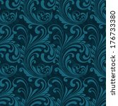 dark blue ornamental seamless... | Shutterstock .eps vector #176733380