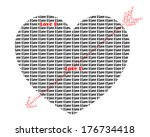 valentine's day heart of... | Shutterstock .eps vector #176734418