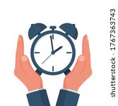 protect time. save time concept.... | Shutterstock .eps vector #1767363743