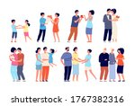 family stages. couple with kid  ... | Shutterstock .eps vector #1767382316