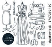 tailored evening dress for... | Shutterstock .eps vector #1767391460