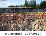 the curb erosion from storms.... | Shutterstock . vector #176739824