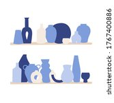 vector illustration set of... | Shutterstock .eps vector #1767400886
