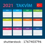 2021 calendar   vector template ...   Shutterstock .eps vector #1767403796