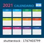 2021 calendar   vector template ...   Shutterstock .eps vector #1767403799