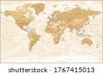 world map vintage political  ...   Shutterstock .eps vector #1767415013