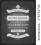 retro typographic design... | Shutterstock .eps vector #176742710