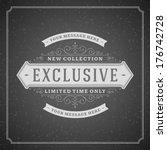exclusive advertising vintage... | Shutterstock .eps vector #176742728