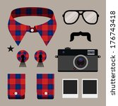 set of fashion hipster design...