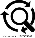 search tracking icon vector...