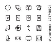 thin line icons for leisure....