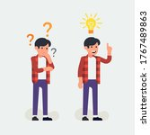 thinking process vector concept ... | Shutterstock .eps vector #1767489863