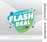 flash deal banner template... | Shutterstock .eps vector #1767494210