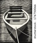 Old Rowboat At A Lake