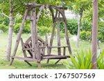 Set Of Old Vintage Wooden...