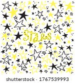 vector yellow and black stars... | Shutterstock .eps vector #1767539993