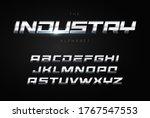 metallic letters geometric... | Shutterstock .eps vector #1767547553