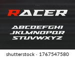 racing font  aggressive and... | Shutterstock .eps vector #1767547580