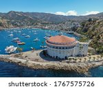 Aerial View Of Catalina Casino...