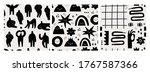 hand drawn various shapes and... | Shutterstock .eps vector #1767587366