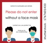 wear face mask sign and symbol. ... | Shutterstock .eps vector #1767601433