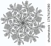 mandala drawn with floral... | Shutterstock .eps vector #1767619280