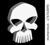 vector evil skull. illustration ... | Shutterstock .eps vector #176763890