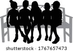 black silhouettes of people... | Shutterstock .eps vector #1767657473