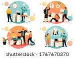 flat 2d concepts problem... | Shutterstock .eps vector #1767670370