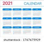 2021calendar   vector template...   Shutterstock .eps vector #1767675929