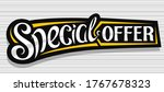 vector banner for special offer ... | Shutterstock .eps vector #1767678323