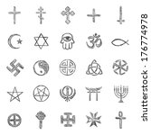vector set of sketch religious... | Shutterstock .eps vector #176774978