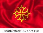 occitan flag flying in the wind. | Shutterstock . vector #176775110