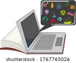laptop with education icon... | Shutterstock .eps vector #1767765026
