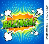 bazinga  comic speech bubble ... | Shutterstock .eps vector #176777324